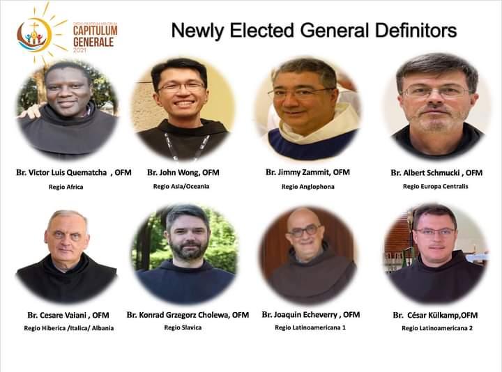 Capítulo General OFM. Nuevo Definitorio General